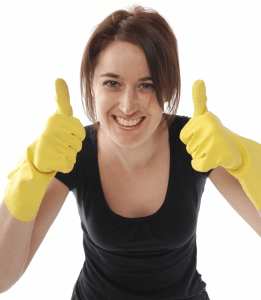 Cleaner thumbs up
